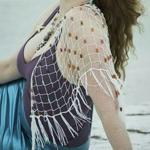 Wrap net with stones for hip or as shawl